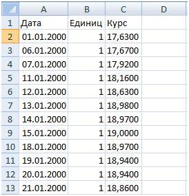 Импорт курса с сайта центрального банка